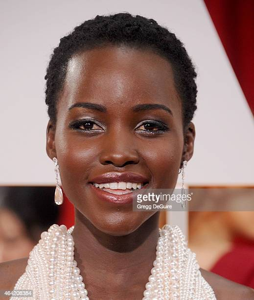 Actress Lupita Nyong'o arrives at the 87th Annual Academy Awards at Hollywood Highland Center on February 22 2015 in Hollywood California