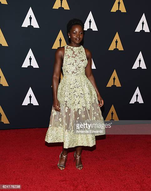 Actress Lupita Nyong'o arrives at the Academy of Motion Picture Arts and Sciences' 8th Annual Governors Awards at The Ray Dolby Ballroom at Hollywood...