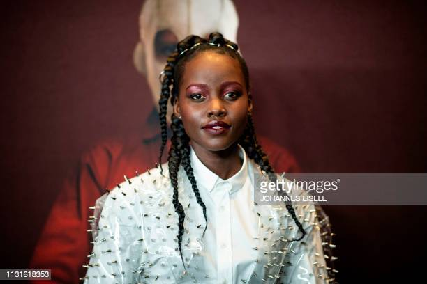 Actress Lupita Nyong'o arrives for the New York premiere of 'US' at the Museum of Modern Art on March 19 2019 in New York City