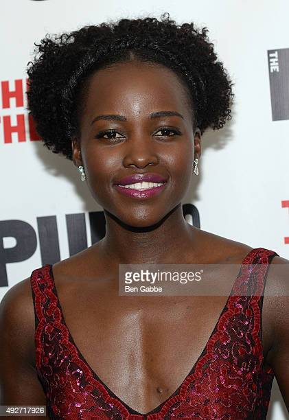 Actress Lupita Nyong'o attends 'Eclipsed' Opening Night at The Public Theater on October 14 2015 in New York City