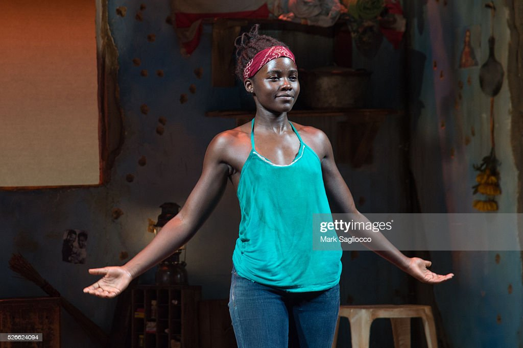 Actress Lupita Nyong'o attends 'Eclipsed' To Launch A Dedications Series In Honor Of Abducted Chibok Girls Of Northern Nigeria at Golden Theatre on April 30, 2016 in New York City.