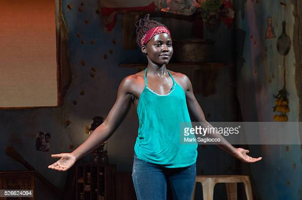 Actress Lupita Nyong'o attends 'Eclipsed' To Launch A Dedications Series In Honor Of Abducted Chibok Girls Of Northern Nigeria at Golden Theatre on...