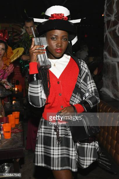 Actress Lupita Nyong'o attends Heidi Klum's 19th Annual Halloween Party Sponsored by SVEDKA Vodka and Party City at Lavo NYC on October 31, 2018 in...