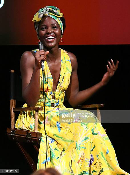 Actress Lupita Nyong'o attends SAGAFTRA Foundation 'The Queen Of Katwe' QA at the SAGAFTRA Foundation Robin Williams Center on September 27 2016 in...