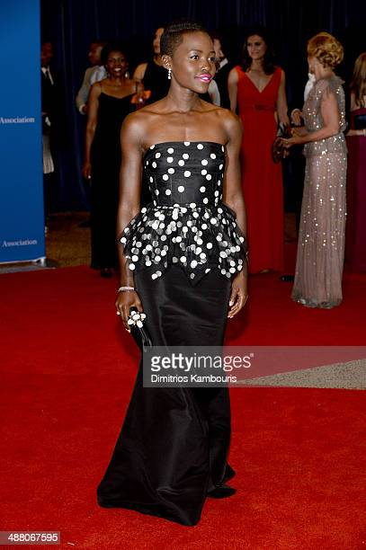 Actress Lupita Nyong'o attends the 100th Annual White House Correspondents' Association Dinner at the Washington Hilton on May 3 2014 in Washington DC