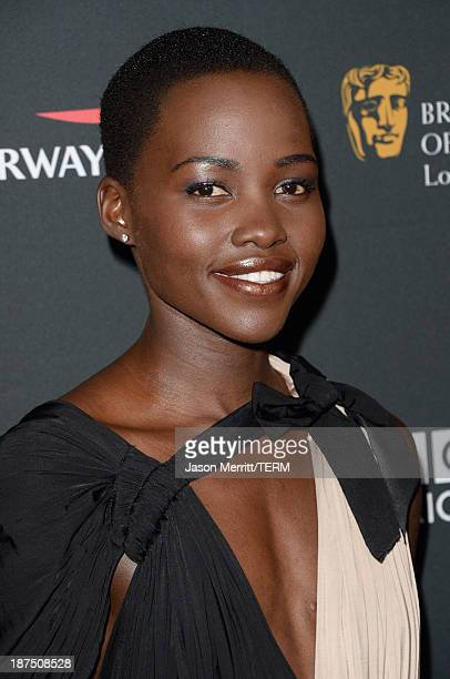 Actress Lupita Nyong'o attends the 2013 BAFTA LA Jaguar Britannia Awards presented by BBC America at The Beverly Hilton Hotel on November 9, 2013 in...