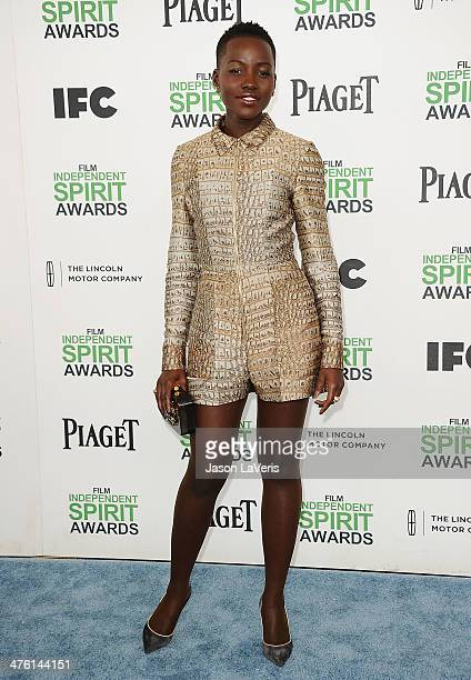 Actress Lupita Nyong'o attends the 2014 Film Independent Spirit Awards on March 1 2014 in Santa Monica California