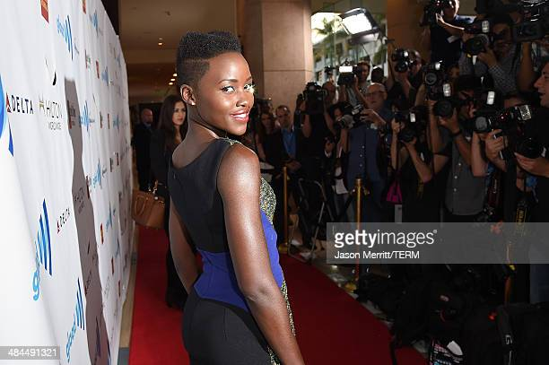 Actress Lupita Nyong'o attends the 25th Annual GLAAD Media Awards at The Beverly Hilton Hotel on April 12 2014 in Los Angeles California