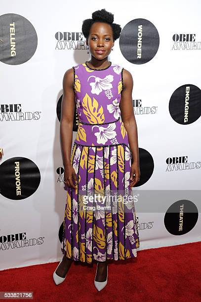 Actress Lupita Nyong'o attends the 61st Annual Obie Awards at Webster Hall on May 23, 2016 in New York City.