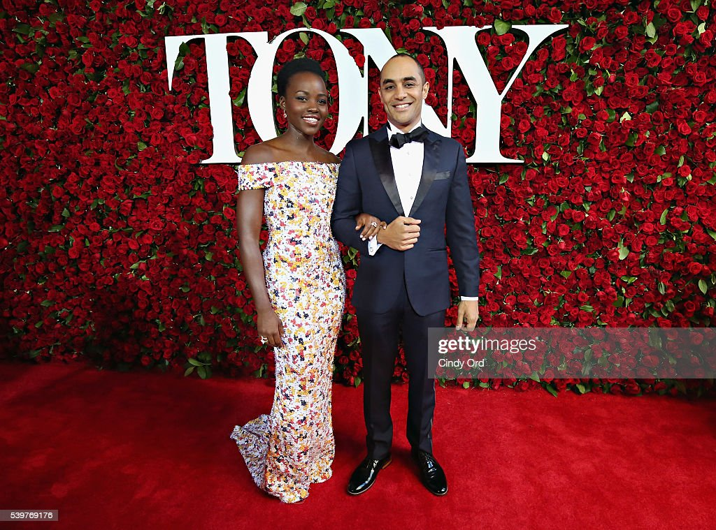 Actress Lupita Nyong'o (L) attends the 70th Annual Tony Awards at The Beacon Theatre on June 12, 2016 in New York City.