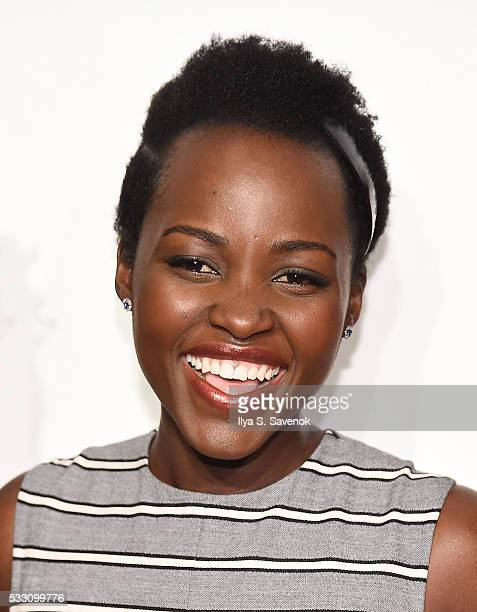 Actress Lupita Nyong'o attends the 82nd annual Drama League Awards Ceremony And Luncheon at Marriott Marquis Times Square on May 20 2016 in New York...