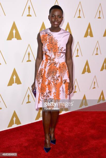 Actress Lupita Nyong'o attends the 86th Academy Awards nominee luncheon at The Beverly Hilton Hotel on February 10, 2014 in Beverly Hills, California.
