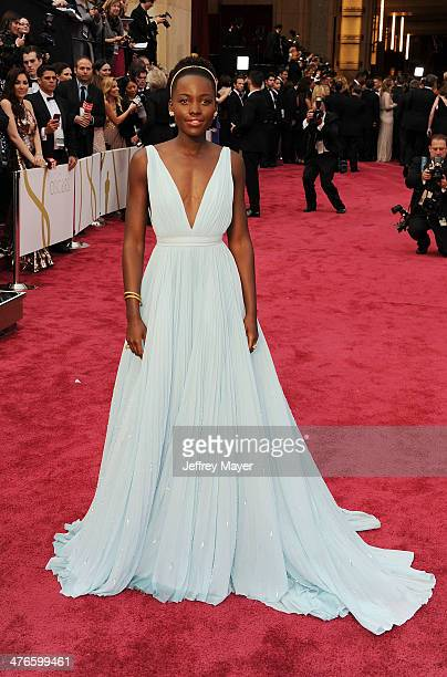 Actress Lupita Nyong'o attends the 86th Annual Academy Awards held at Hollywood Highland Center on March 2 2014 in Hollywood California