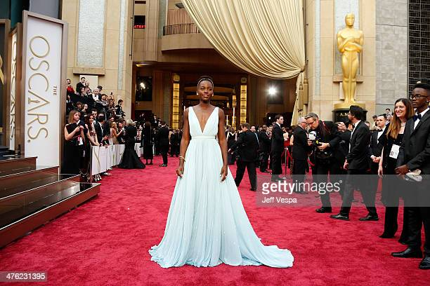 Actress Lupita Nyong'o attends the 86th Oscars held at Hollywood Highland Center on March 2 2014 in Hollywood California