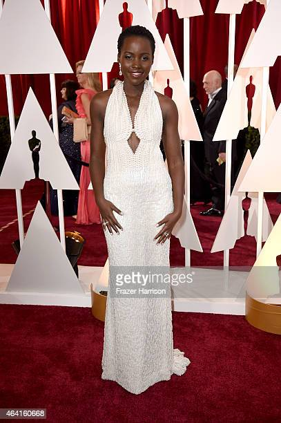 Actress Lupita Nyong'o attends the 87th Annual Academy Awards at Hollywood Highland Center on February 22 2015 in Hollywood California