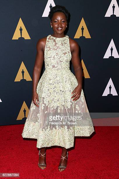 Actress Lupita Nyong'o attends the Academy of Motion Picture Arts and Sciences' 8th annual Governors Awards at The Ray Dolby Ballroom at Hollywood...