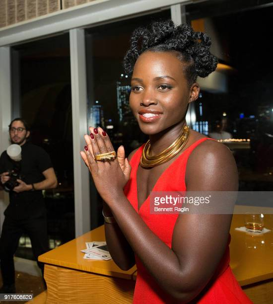 Actress Lupita Nyong'o attends the Danai x One x Love Our Girls celebration at The Top of The Standard on February 12 2018 in New York City