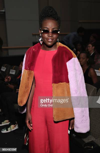 Actress Lupita Nyong'o attends the 'Dirty Computer' screening at The Film Society of Lincoln Center Walter Reade Theatre on April 23 2018 in New York...