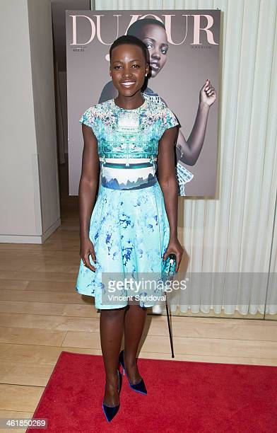 Actress Lupita Nyong'o attends the DuJour Magazine celebrates great performances issue featuring 12 Years A Slave Golden Globe Nominee Lupita Nyong'o...