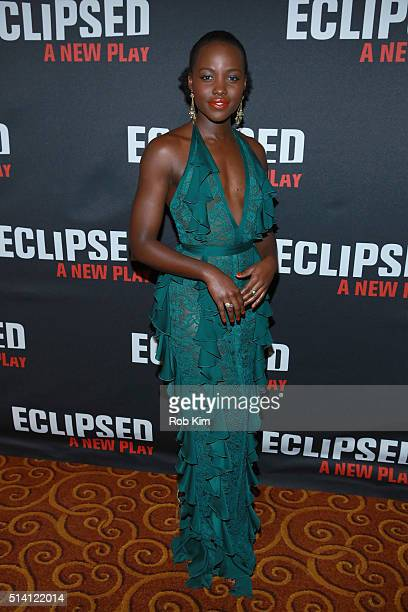 Actress Lupita Nyong'o attends the Eclipsed broadway opening night after party at Gotham Hall on March 6 2016 in New York City