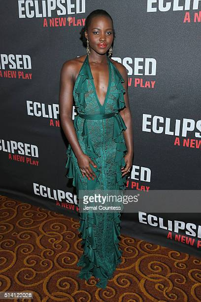 Actress Lupita Nyong'o attends the 'Eclipsed' broadway opening night after party at Gotham Hall on March 6 2016 in New York City