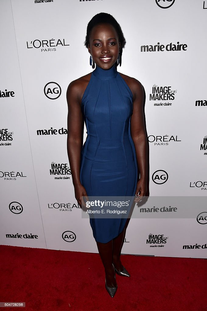 Actress Lupita Nyong'o attends the inaugural Image Maker Awards hosted by Marie Claire at Chateau Marmont on January 12, 2016 in Los Angeles, California.