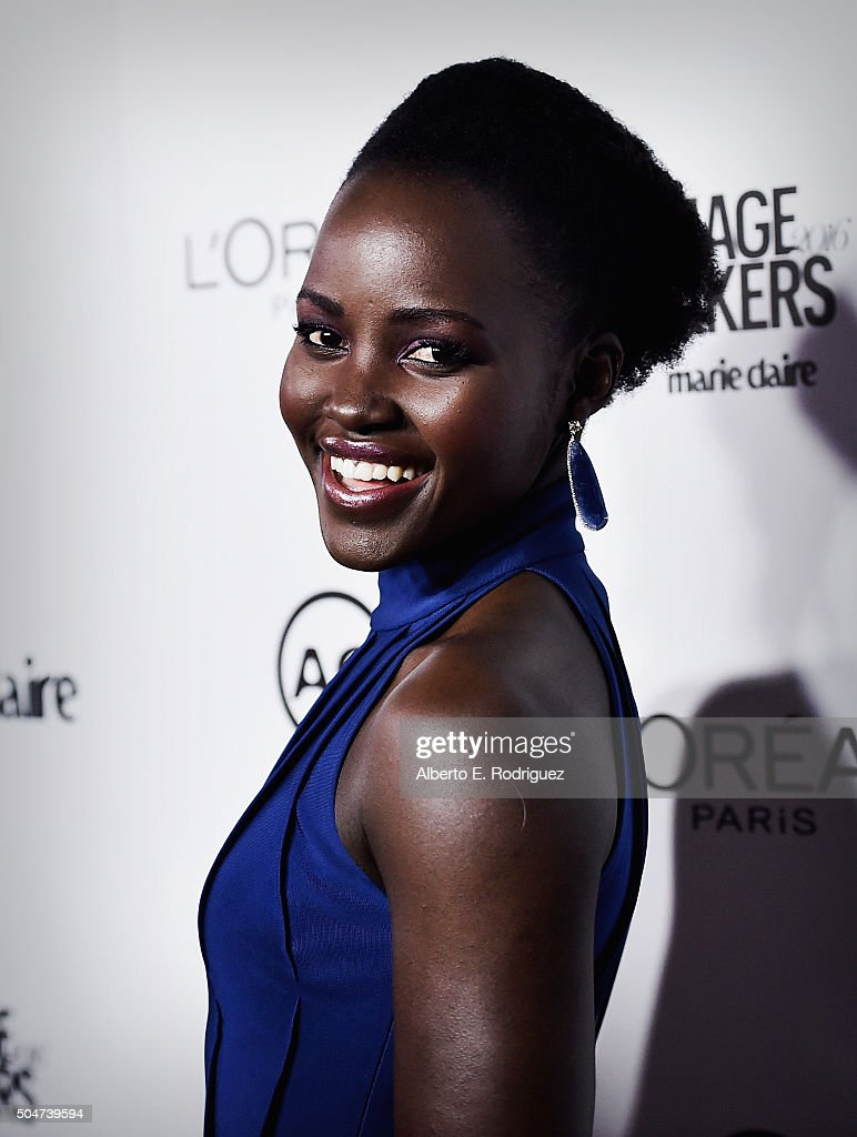 Actress Lupita Nyongo attends the inaugural Image Maker Awards hosted by Marie Claire at Chateau Marmont on January 12, 2016 in Los Angeles, California.