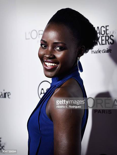 Actress Lupita Nyongo attends the inaugural Image Maker Awards hosted by Marie Claire at Chateau Marmont on January 12 2016 in Los Angeles California