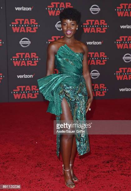 Actress Lupita Nyong'o attends the Los Angeles premiere of 'Star Wars The Last Jedi' at The Shrine Auditorium on December 9 2017 in Los Angeles...