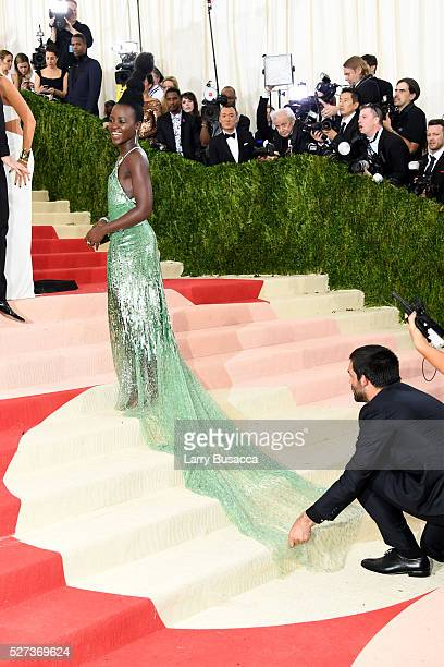 Actress Lupita Nyong'o attends the 'Manus x Machina Fashion In An Age Of Technology' Costume Institute Gala at Metropolitan Museum of Art on May 2...