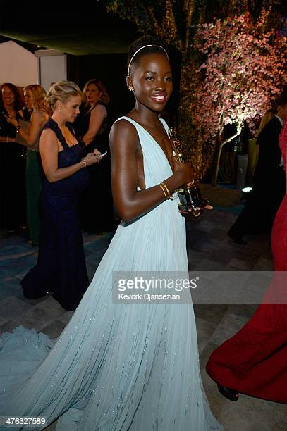 Actress Lupita Nyong'o attends the Oscars Governors Ball at Hollywood Highland Center on March 2 2014 in Hollywood California