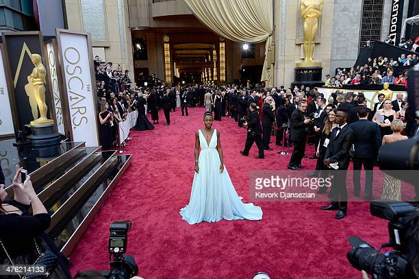 Actress Lupita Nyong'o attends the Oscars held at Hollywood Highland Center on March 2 2014 in Hollywood California