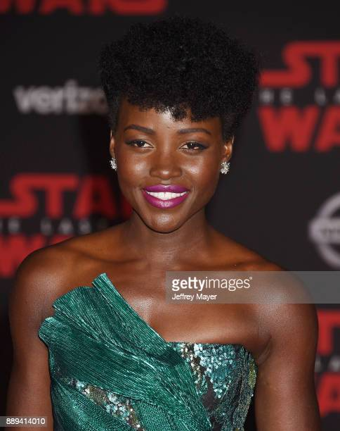 Actress Lupita Nyong'o attends the premiere of Disney Pictures and Lucasfilm's 'Star Wars The Last Jedi' at The Shrine Auditorium on December 9 2017...