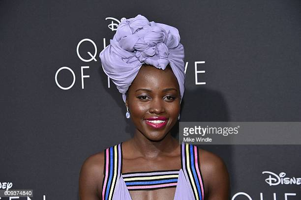 Actress Lupita Nyong'o attends the premiere of Disney's Queen Of Katwe at the El Capitan Theatre on September 20 2016 in Hollywood California