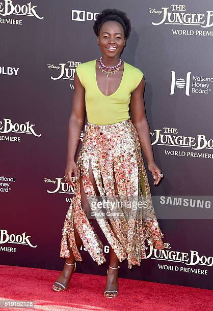 Actress Lupita Nyong'o attends the premiere of Disney's The Jungle Book at the El Capitan Theatre on April 4 2016 in Hollywood California