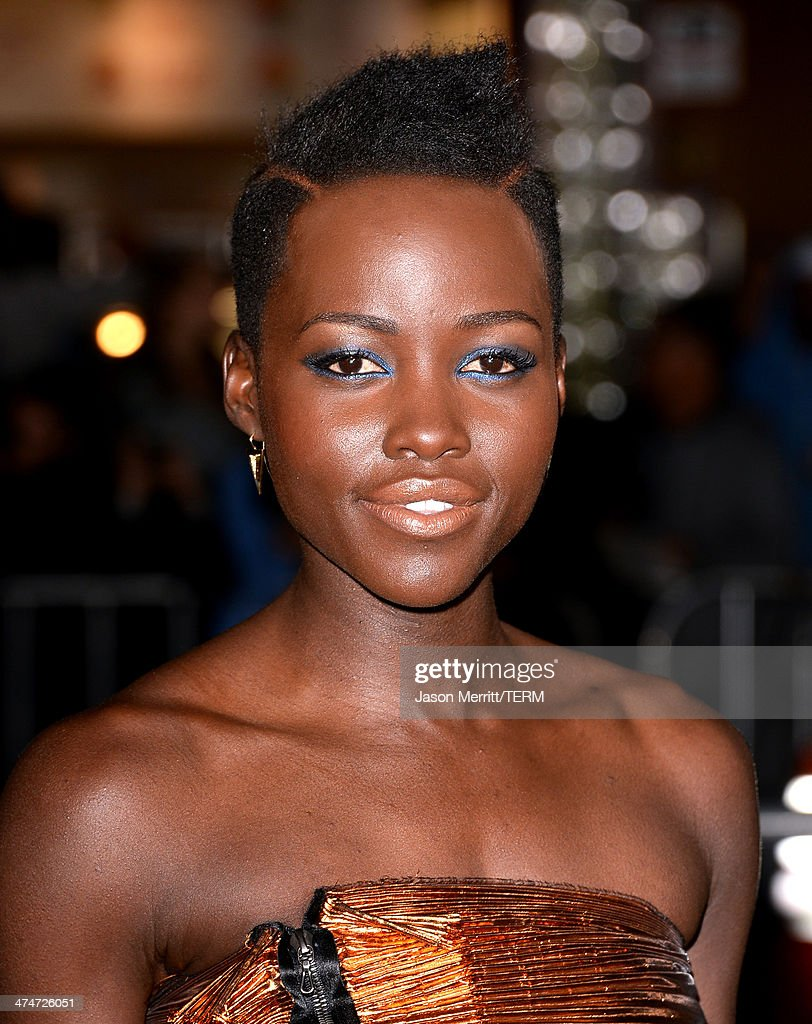 Actress Lupita Nyong'o attends the premiere of Universal Pictures and Studiocanal's 'Non-Stop' at Regency Village Theatre on February 24, 2014 in Westwood, California.
