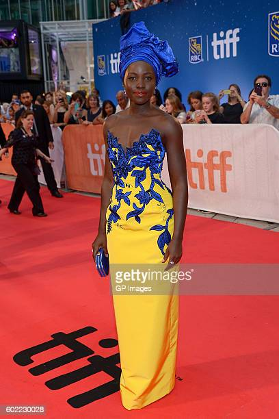 """Actress Lupita Nyong'o attends the """"Queen of Katwe"""" premiere during the 2016 Toronto International Film Festival at Roy Thomson Hall on September 10,..."""