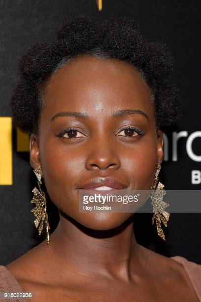 Actress Lupita Nyong'o attends the screening of Marvel Studios' 'Black Panther' hosted by The Cinema Society on February 13 2018 in New York City