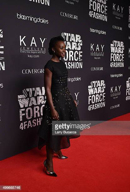 Actress Lupita Nyong'o attends the Star Wars 'Force 4 Fashion' Event on Dec 2 at the Skylight Modern in NYC Top designers showcased bespoke looks...
