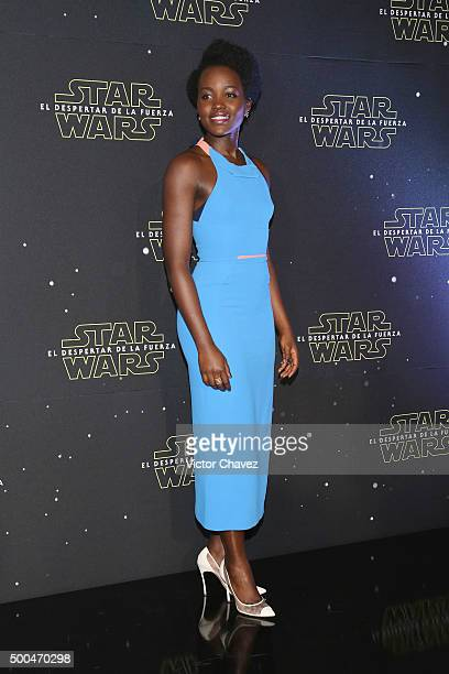 """Actress Lupita Nyong'o attends the """"Star Wars: The Force Awakens"""" Mexico City photo call at St Regis Hotel on December 8, 2015 in Mexico City, Mexico."""