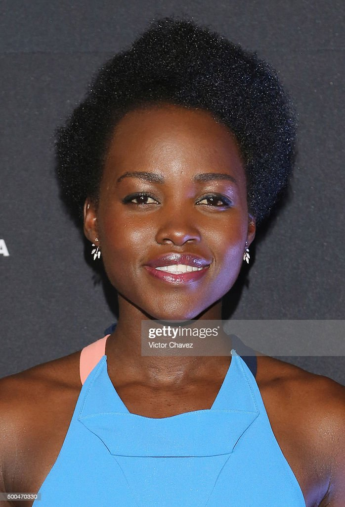Actress Lupita Nyong'o attends the 'Star Wars: The Force Awakens' Mexico City photo call at St Regis Hotel on December 8, 2015 in Mexico City, Mexico.