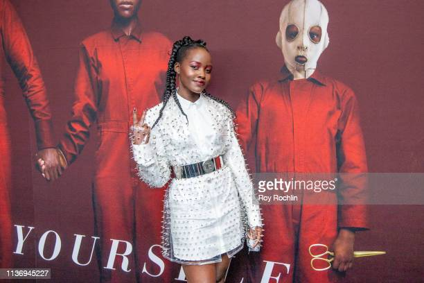 Actress Lupita Nyong'o attends the Us New York Premiere at Museum of Modern Art on March 19 2019 in New York City