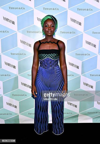 Actress Lupita Nyong'o attends the Vanity Fair and Tiffany Co private dinner toasting Lupita Nyong'o and celebrating Legendary Style at ShangriLa...