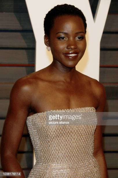 Actress Lupita Nyong'o attends the Vanity Fair Oscar Party at Wallis Annenberg Center for the Performing Arts in Beverly Hills Los Angeles USA on 22...