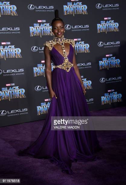 Actress Lupita Nyong'o attends the world premiere of Marvel Studios Black Panther, on January 29 in Hollywood, California. / AFP PHOTO / VALERIE MACON