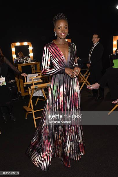 Actress Lupita Nyong'o attends TNT's 21st Annual Screen Actors Guild Awards at The Shrine Auditorium on January 25 2015 in Los Angeles California...