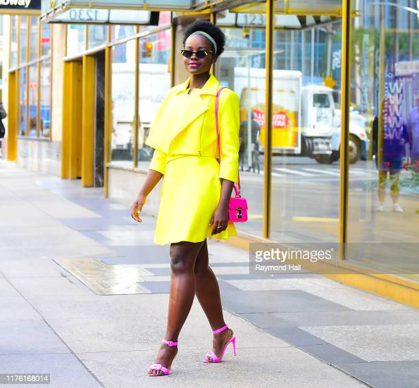 Actress Lupita Nyong'o in seen with her in Midtown on October 15 2019 in New York City