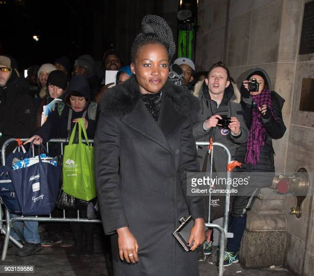 Actress Lupita Nyong'o is seen arriving at the 2018 National Board of Review Awards Gala at Cipriani 42nd Street on January 9 2018 in New York City
