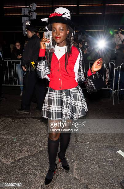 Actress Lupita Nyong'o is seen arriving to Heidi Klum's 19th Annual Halloween Party at Lavo NYC on October 31 2018 in New York City