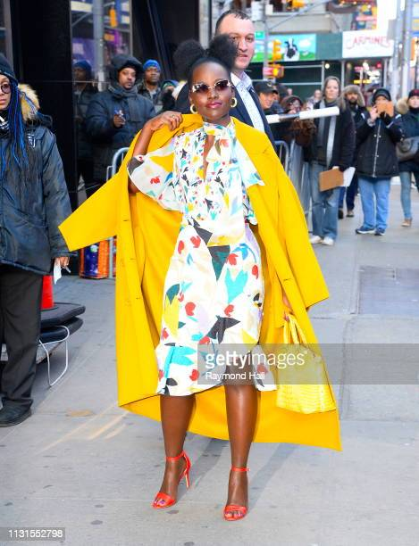 Actress Lupita Nyong'o is seen outside Good Morning America on March 19 2019 in New York City